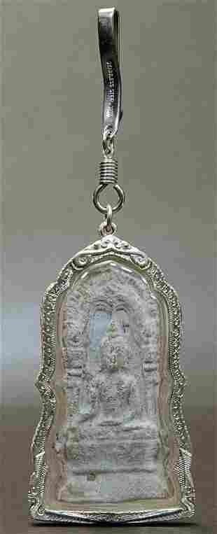 AMULET ,16th - 17th Century Thailand ,Bronze, 3-1/2