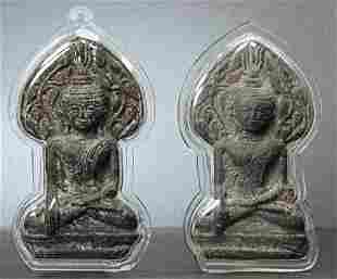 AMULETS ,18th Century Thailand ,Lead alloy, 3-1/2