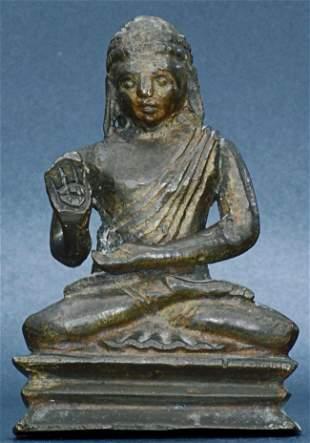 A vintage Sri Lanka bronze Buddha. Measures 3 1/8