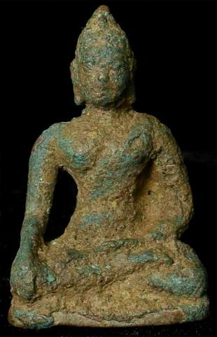 15/16th C. Northern Thai Bronze Buddha with a strong