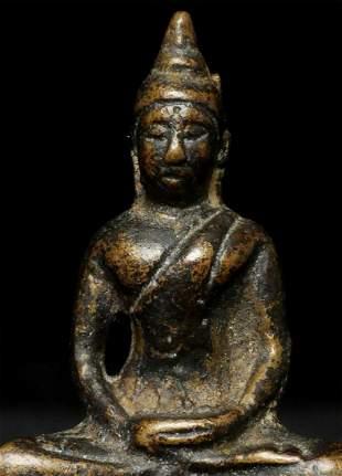 Antique Thai Bronze Buddha. Probably 19thC. This piece