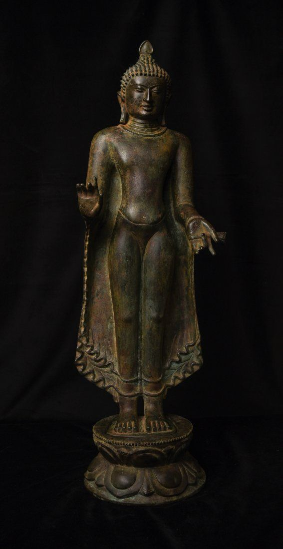 18th century or earlier Pagan Burmese Buddha-Large