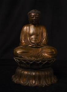 13-16thC Kamakura Buddha- Bronze- Good Size- Authentic