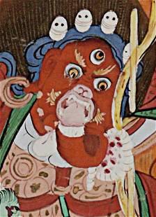 THANGKA Mongolia, Early 20thC , Canvas, 9 x 11