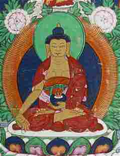 THANGKA ,Early to Mid 20th Century Mongolia ,Canvas,