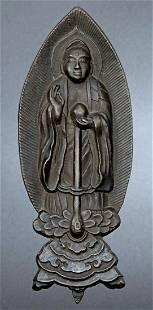 BUDDHA,18th - 19th Century Japan, Bronze, 5-1/4 Inches