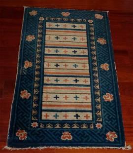 "Exquisite Inner Mongolian Antique Rug measures 40"" x"