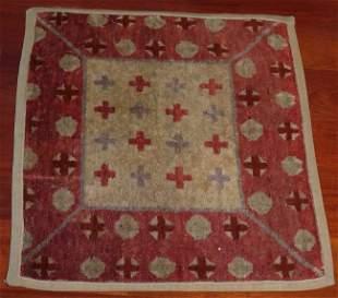 "Circa 1900 inner Mongolian sitting rug measures 22.5"" x"