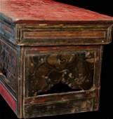 "Antique Tibetan Portable Altar Table is 11"" high,"