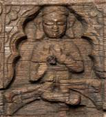 Antique Nepalese (?) Buddha lintel or other