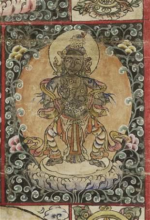 Uncommon Antique Mongolian Thangka.