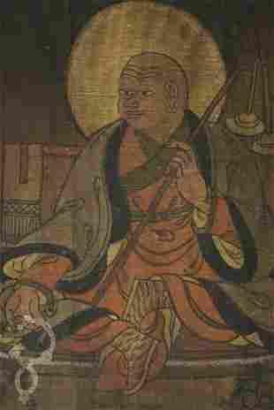 Wonderful antique Mongolian or Tibetan Thangka.