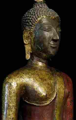 Magnificent 19th century Northern Sukothai Thai Buddha.