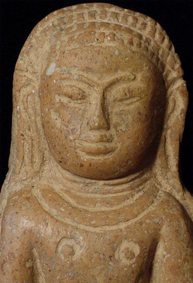 Antique terracotta Buddha plaque.