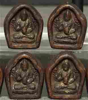 Very rare set of EIGHT miniature Tibetan or Mongolian