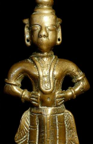 Indian bronze figure. Solid cast and very heavy at a