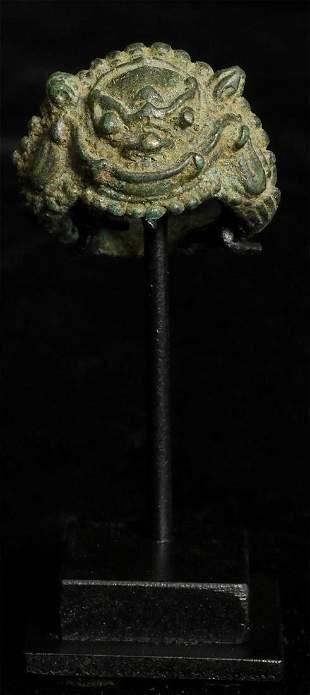 11-13thC Bronze Khmer ring.