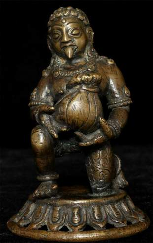 Fierce Antique Nepalese Figure. He has tongue out and