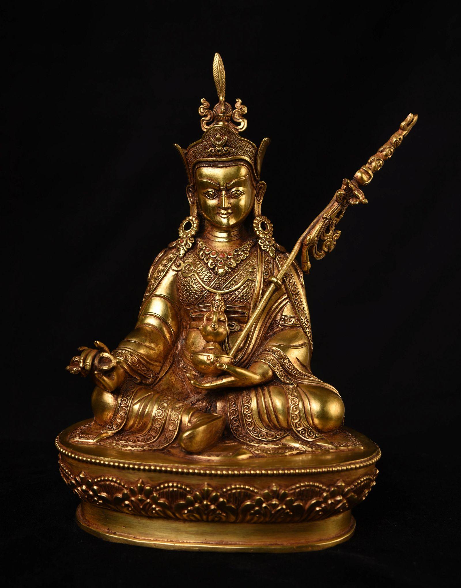 Tibetan Bronze Padma Sambhava. Not an old one, but very