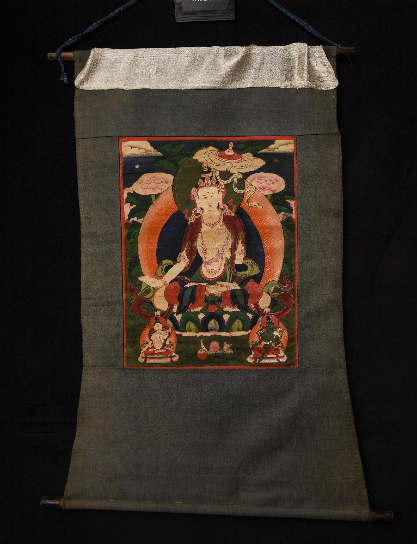 Classic Mongolian Thangka. 20thC. Traditional subject