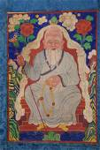 Special Classic Mongolian Thangka. 20thC. Traditional