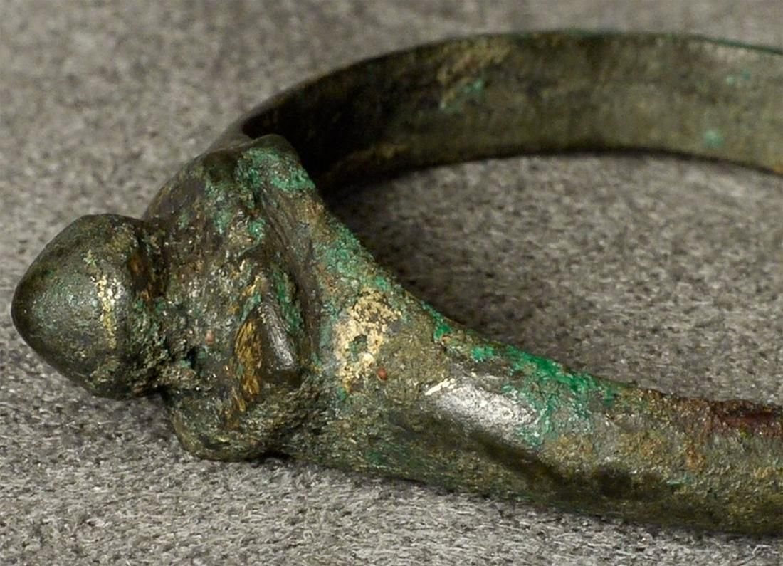 Ancient bronze ring from a giant bronze statue (perhaps