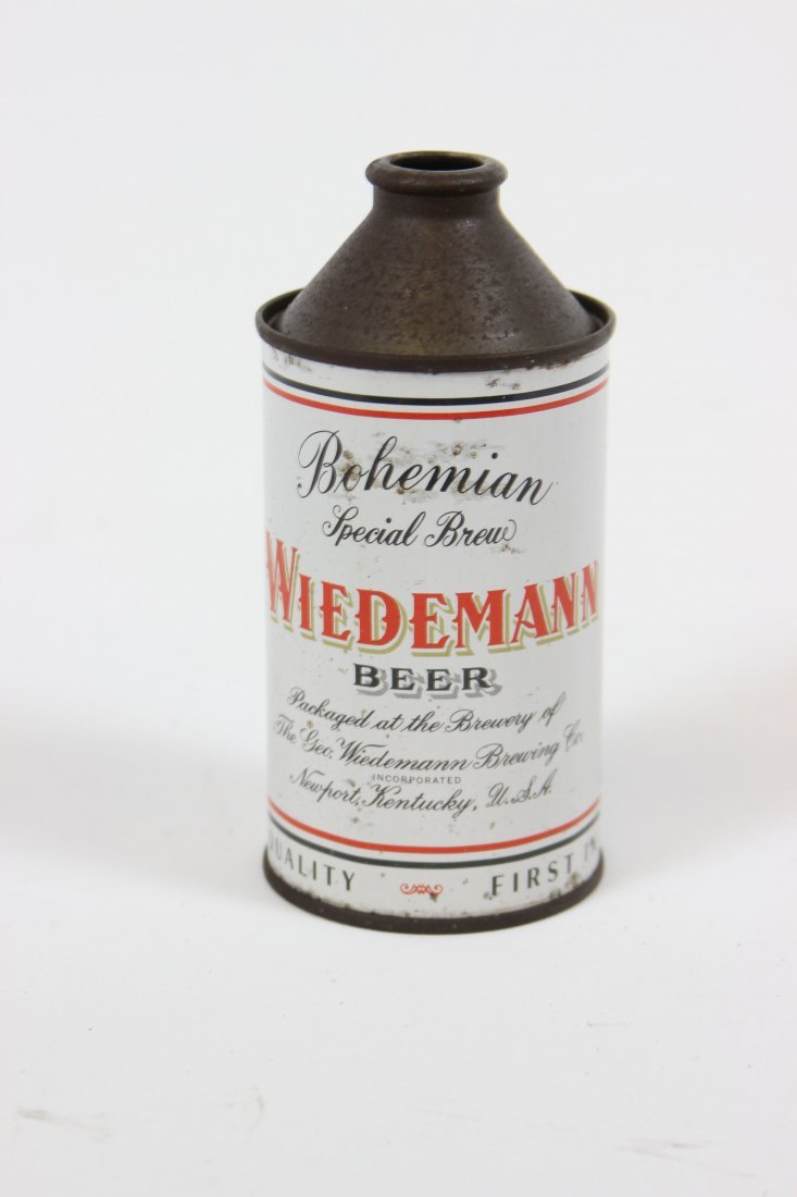 Wiedemann Cone Top Beer Can
