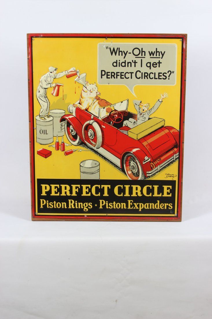 Perfect Circle Piston Ring-Expander Tin Sign