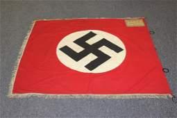German WWII N.S.D.A.P. Jagersburg Flag w/Rings