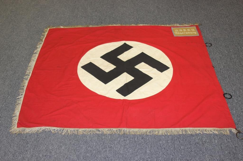 German WWII N.S.D.A.P. Jagersburg Flag w/Rings