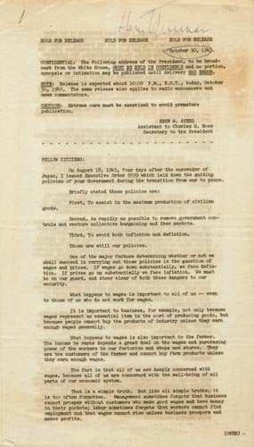4202: HARRY S. TRUMAN  DOCUMENT SIGNED AS PRESIDENT