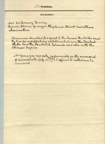 4204: JOHN QUINCY ADAMS AUTOGRAPH DOCUMENT SIGNED
