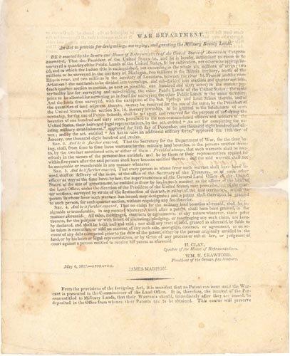 4209: (JAMES MADISON) 1812 LOUISIANA PURCHASE DOCUMENT
