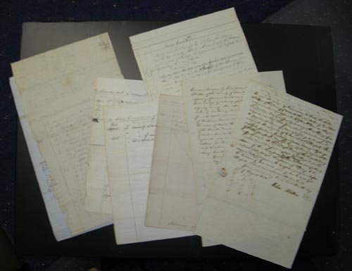 4216: (ABRAHAM LINCOLN) ARCHIVE FROM HIS LEGAL CAREER