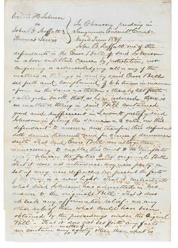4219: (ABRAHAM LINCOLN) MANUSCRIPT DOCUMENT SIGNED