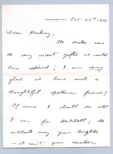 4224: THEODORE ROOSEVELT WW I AUTOGRAPH LETTER SIGNED