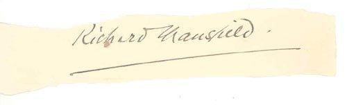 4415: RICHARD MANSFIELD SIGNATURE - AUTHOR