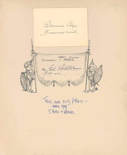 4421: PALMER COX SIGNATURE - CHILDREN'S AUTHOR