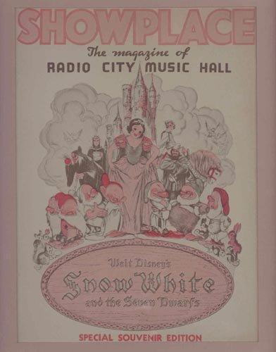 4423: 1938 ORIGINAL SNOW WHITE RADIO CITY PROGRAM