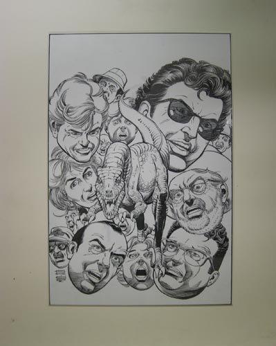4515: JURASSIC PARK TOPPS COMICS HAND DRAWN COVER ART