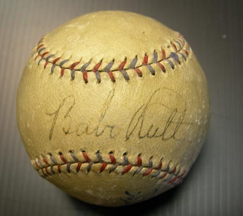 4600: BABE RUTH & LOU GEHRIG SIGNED OFFICIAL BALL -PSA