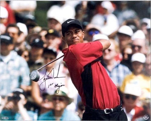 4604: TIGER WOODS 16X20 LE PHOTO SIGNED - UPPER DECK