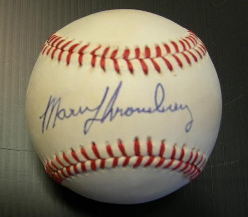 4614: MARV THRONEBERRY SIGNED OFFICIAL BALL - PSA/DNA