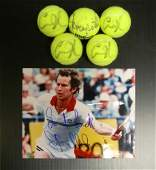 4716: TENNIS GREATS SIGNED ARCHIVE - PSA/DNA COA