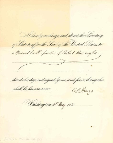 1004: RUTHERFORD B. HAYES DOCUMENT SIGNED AS PRESIDENT
