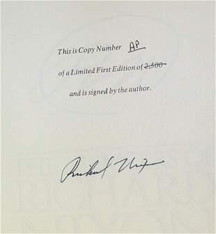 PRESIDENT RICHARD M. NIXON BOOK SIGNED - MEMOIRS