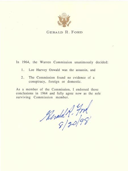 1011: GERALD R. FORD DOCUMENT SIGNED - PRESIDENT