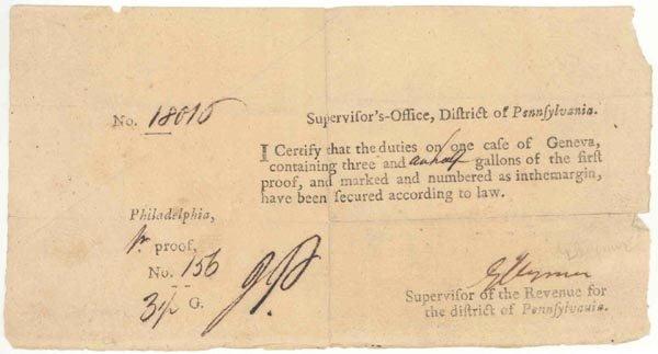 1016: GEORGE CLYMER DOCUMENT SIGNED - SIGNER