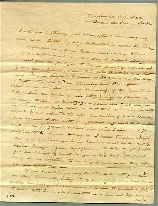 AARON BURR AUTOGRAPH LETTER SIGNED - 1822