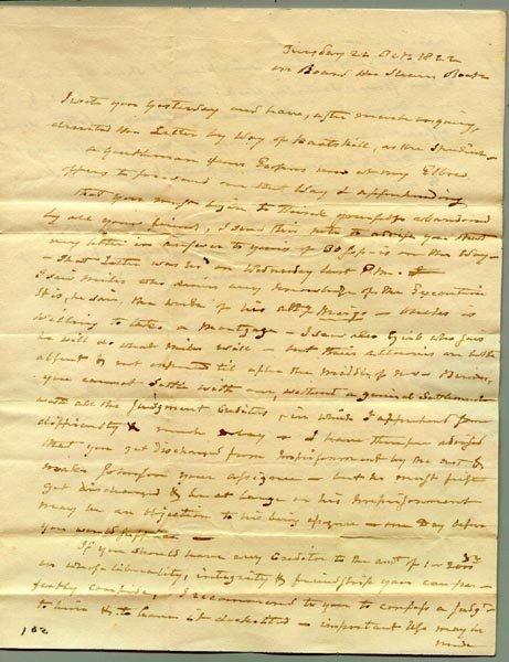 1017: AARON BURR AUTOGRAPH LETTER SIGNED - 1822